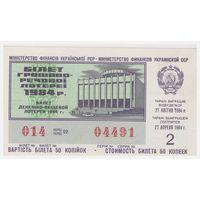 Лотерейный билет УССР 1984 2 выпуск