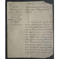Копия документа Минской Казенной палаты. 1896 г.