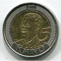 ЮЖНАЯ АФРИКА - 5 РАНДОВ 2008 МАНДЕЛА