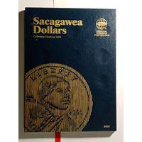 Альбом для монет номиналом 1$ серия Сакагавея  США двор P и D