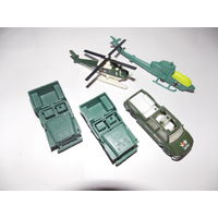 Машинки, вертолеты - военная техника  одним лотом