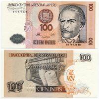 Перу. 100 интис (образца 1987 года, P133, UNC)