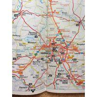 Карта дорог Германии на немецком языке
