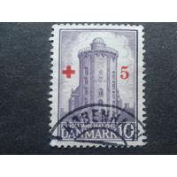 Дания 1944 надпечатка Красный крест на обсерватории