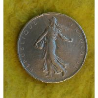 2 франка 1919 г Серебро Сохран