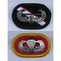 ДВА ЗНАКА парашютиста армии и воздушного десантника США