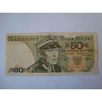 Банкнота 50 злот, Польша, 1988 г.