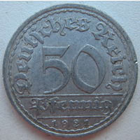 Германия 50 пфеннигов 1921 г. (А) (d)
