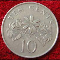 7518:  10 центов 1987 Сингапур