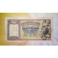 Албания 100 франга 1940 г.   РЕДКАЯ