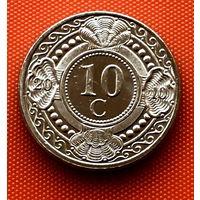 113-19 Антильские острова, 10 центов 2010 г. Единственное предложение монеты данного года на АУ