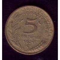5 сантимов 1971 год Франция