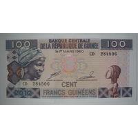 Гвинея 100 франков 2012 г. (a)