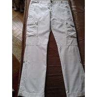 Летние брюки молочного цвета, как новые. Размер 12. 100% хлопок, замеры ниже...