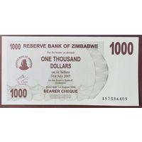 1000 долларов 2006 года - Зимбабве - UNC