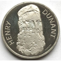 Швейцария 5 франков 1978 года. Основатель Красного Креста - Генри Дюнан