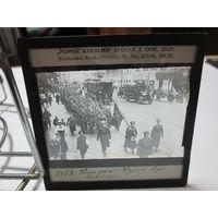 Советско-польская война Парад женского батальона фото негатив фото пластина 1920 г.Варшава