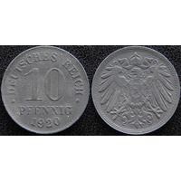 YS: Германия, 10 пфеннигов 1920, цинк, KM# 26 (1)