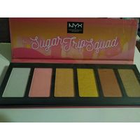 NYX PROFESSIONAL MAKEUP палетка хайлайтеров для лица Sugar Trip Squad Highlighting Palette