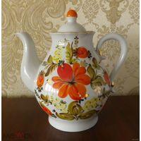 """Чайник 2,0 л """"Цветы"""" 22,5 см 1 сорт позолота Полонное"""