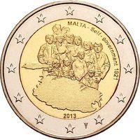 2 евро 2013 г. 100 лет Самоуправлению Мальты. UNC из ролла