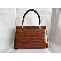 Chanel Stil дамская сумка из натуральной кожи крокодила.Сумка класса ЛЮКС , оригинал из 50х-60х годов.Протзводство Франция.Как новая!