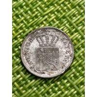 Германия Бавария 1 крейцер 1854 г   серебро тир 1 млн 650 т