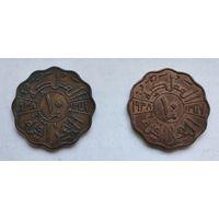 Ирак 10 филсов, 1938 Бронза 5-12-30*31