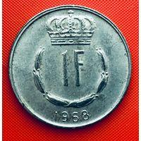 12-30 Люксембург, 1 франк 1968 г.