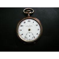Серебреные Швейцарские часы. Конец 19 века. На ходу