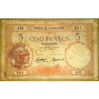 Таити 5 франков 1927г.