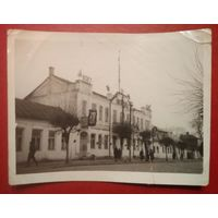 Г.Пинск. Белорусский электротехникум связи. Фото 1955 г. 9х12 см