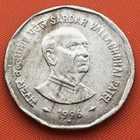 120-24 Индия, 2 рупии 1996 г. (Валлабхаи Патель, м. д. - Мумбаи)