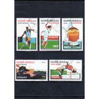 Гвинея-Биссау.Летние виды спорта.Теннис,Стрельба,Прыжки в длину и высоту,Парусный спорт.1988.