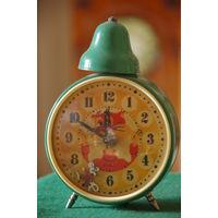 Часы  Детские будильник с Котом Леопольдом и убегающей мышью ( все работает)