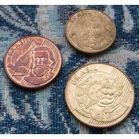 Бразилия 5, 10, 25 центов. Инвестируй в монеты планеты!