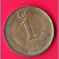 21-40 Турция, 1 лира 2005 г.