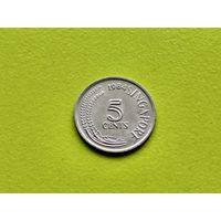 Сингапур. 5 центов 1984 (не магнетик).