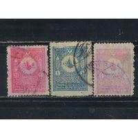 Турция Осман.Имп. 1901 Абдул Хамид II Герб Тугра #88А,89А,91А
