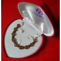 Браслет турманиевый Нуга Бест, лимитированная серия, в фирменной коробке в виде сердца