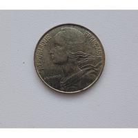 """Франция 20 сентим 1995 """"Пчела"""" KM#930 (1962–2001 г.)"""