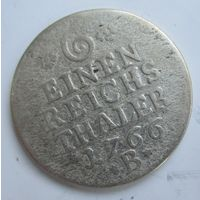 Пруссия 1\6 рейхсталера 1766 B. Серебро .1Е-82