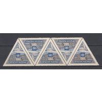 Непал. 1955. 1 марка в сцепке (полная серия). Michel N 97 (50,0 е).