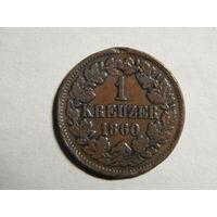 Баден 1 крейцер 1860г