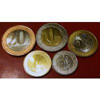 Ангола набор 2012 - 2014 биметалл 5 штук UNC