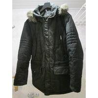 Куртка мужская зимняя с капюшоном ,размер 50-52, б/у