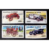 Нигер 1984 г. Классические автомобили. Ретро автомобиль. Транспорт. Техника, полная серия из 4 марок #0161-Т1P33