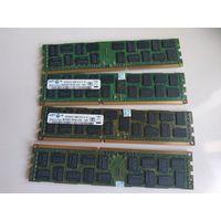 Комплект 16Gb -  серверная память DDR3 REG ECC  4Gb x 1333Mhz  4шт., SAMSUNG. Без проблем работает на 1866Mhz