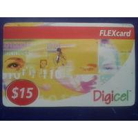 США Flexcard. Digicel 15 долларов