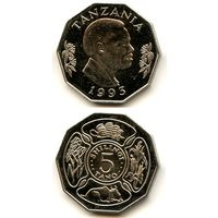 Танзания 5 шиллингов 1993 г. KM#23a.2